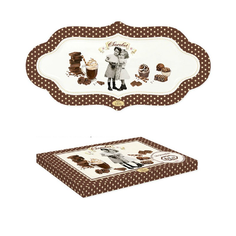 Piatto per servire dolci Chocolate Vintage