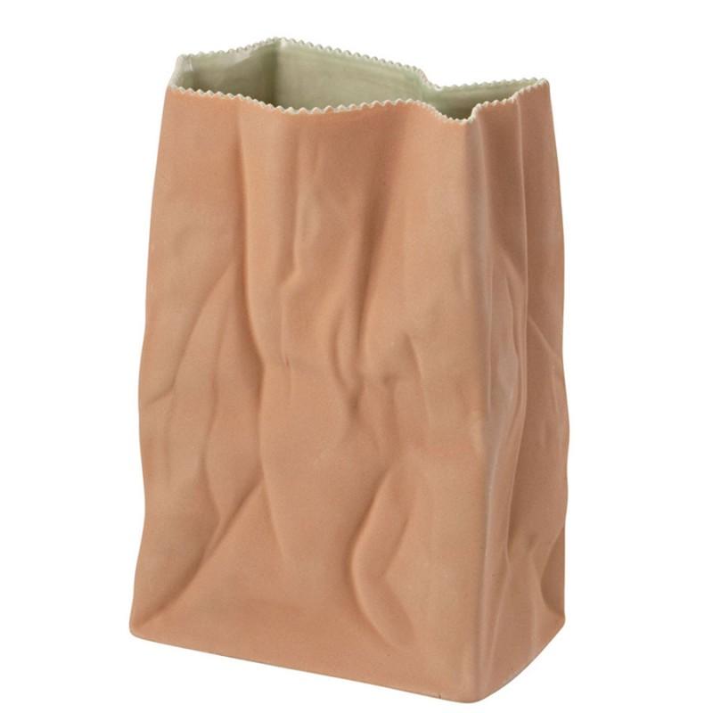 Tutenvase, vaso a sacchetto beige