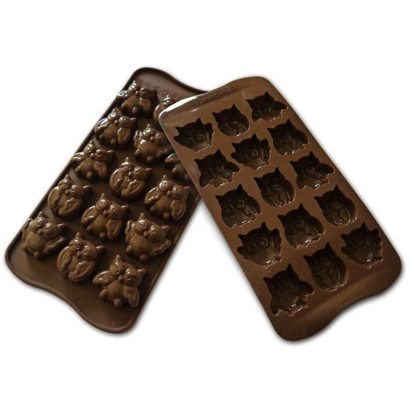 Stampo per cioccolato Easy Choc Gufi